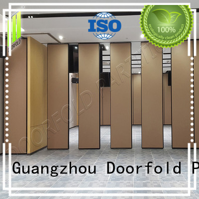 Doorfold sliding folding partition collapsible for meeting room