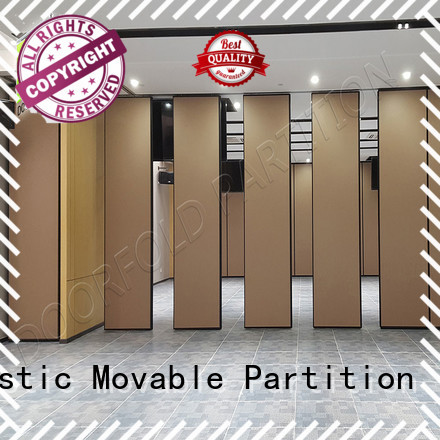 Doorfold sliding folding partition durable for hotel