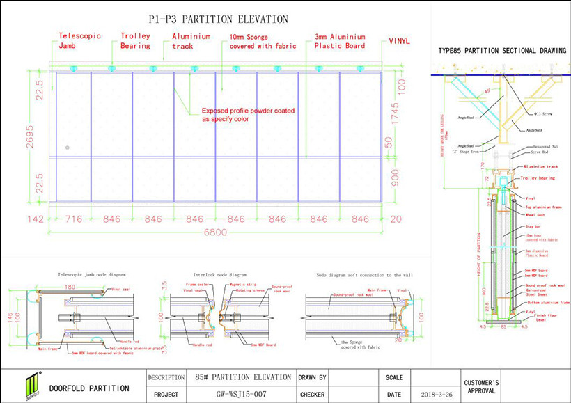 soundproof partition wall for expo-1