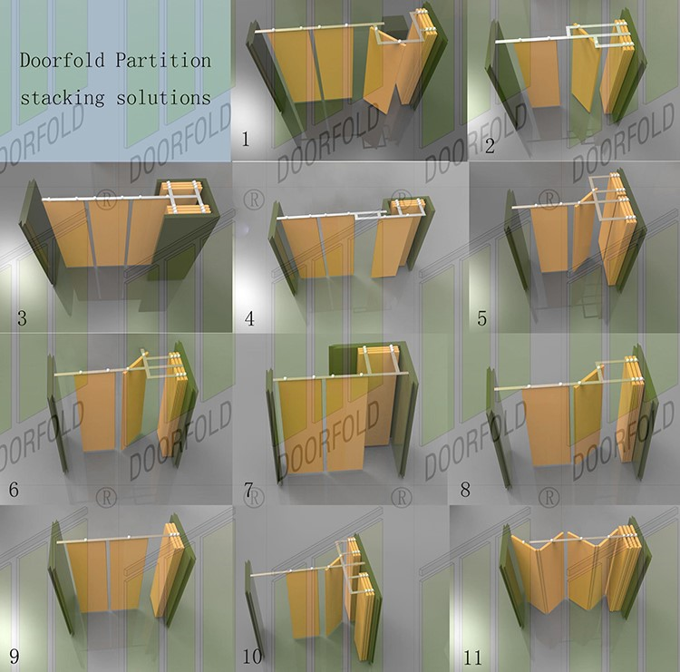 Doorfold lan room partition wall free design for office-10
