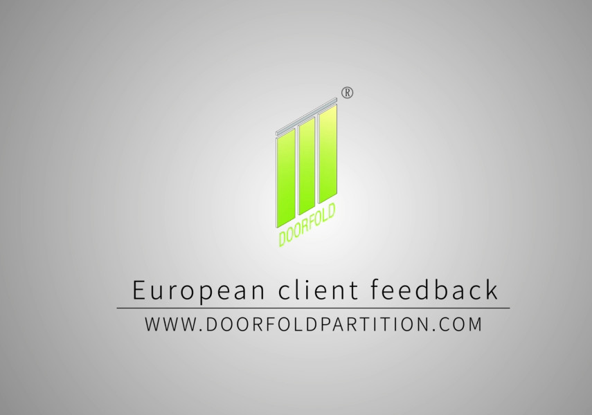 European client feedback to Doorfold partition wall