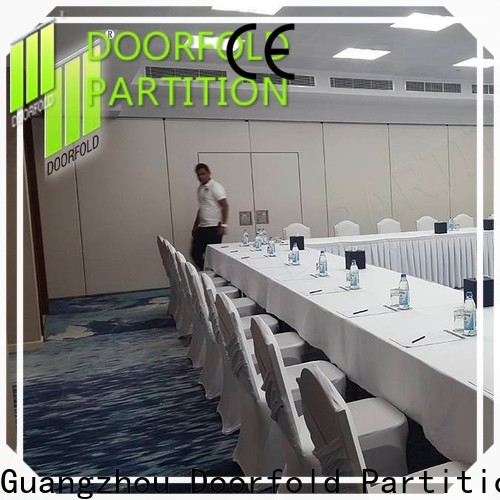 Doorfold sliding partition free design for meeting room