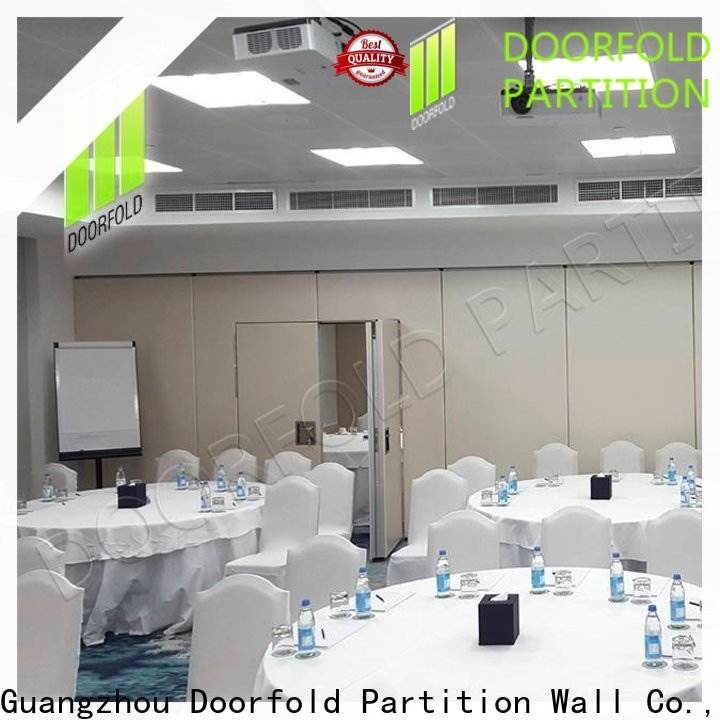 Doorfold soundproof partition wall for expo