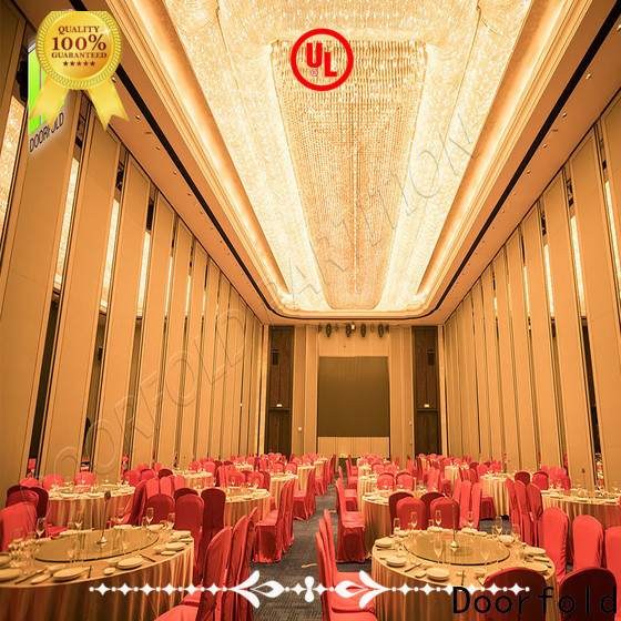 sliding folding partition easy installation for meeting room
