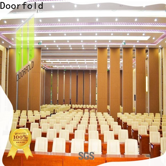 Doorfold custom operable wall decorative for meeting room
