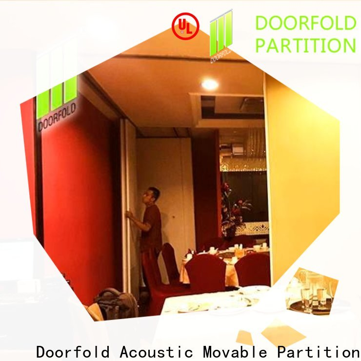 Doorfold Sliding Partition for Commercial Room easy installation for customization