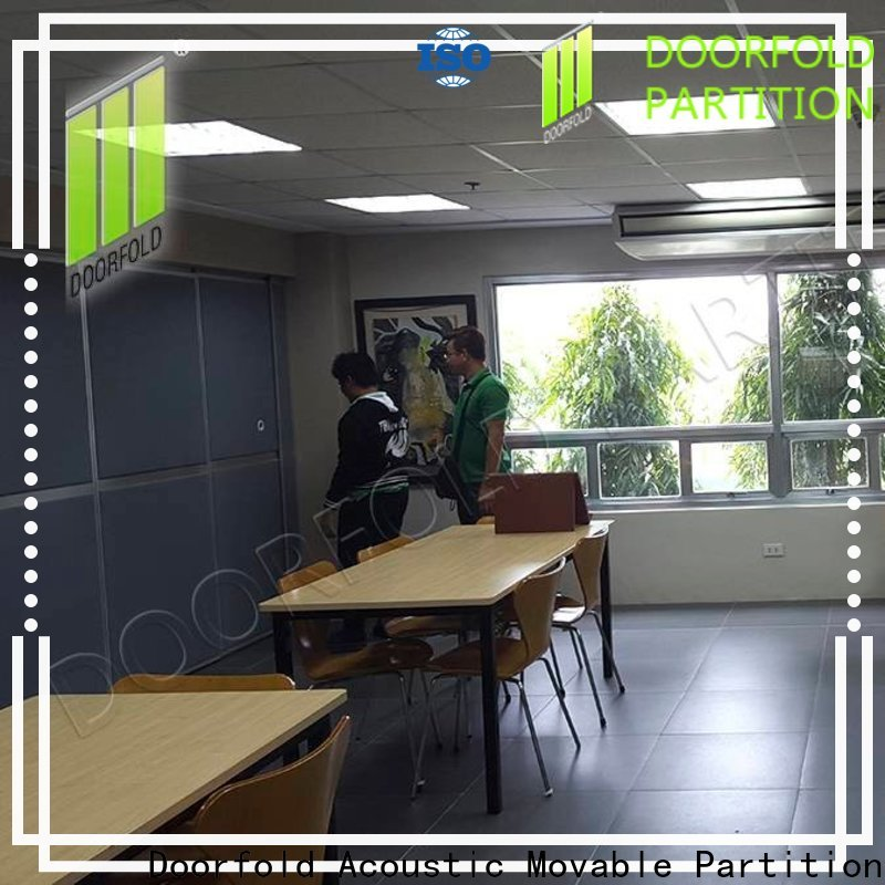 Doorfold soundproof office partitions for expo
