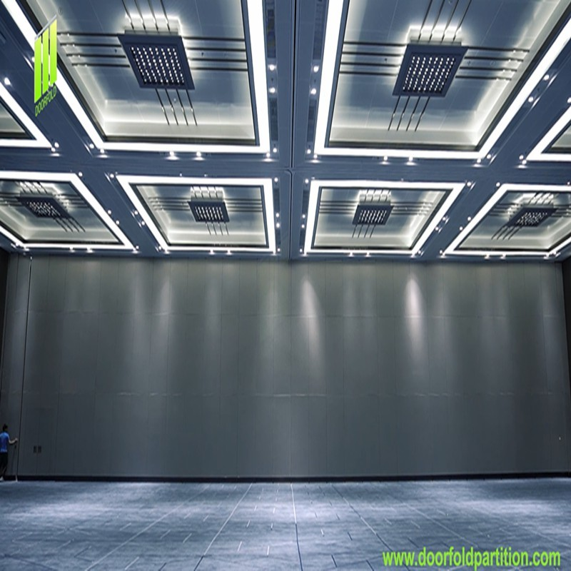 Doorfold Partition Wall Movable Sliding Folding Partition Applied to Convention & Exhibition Center