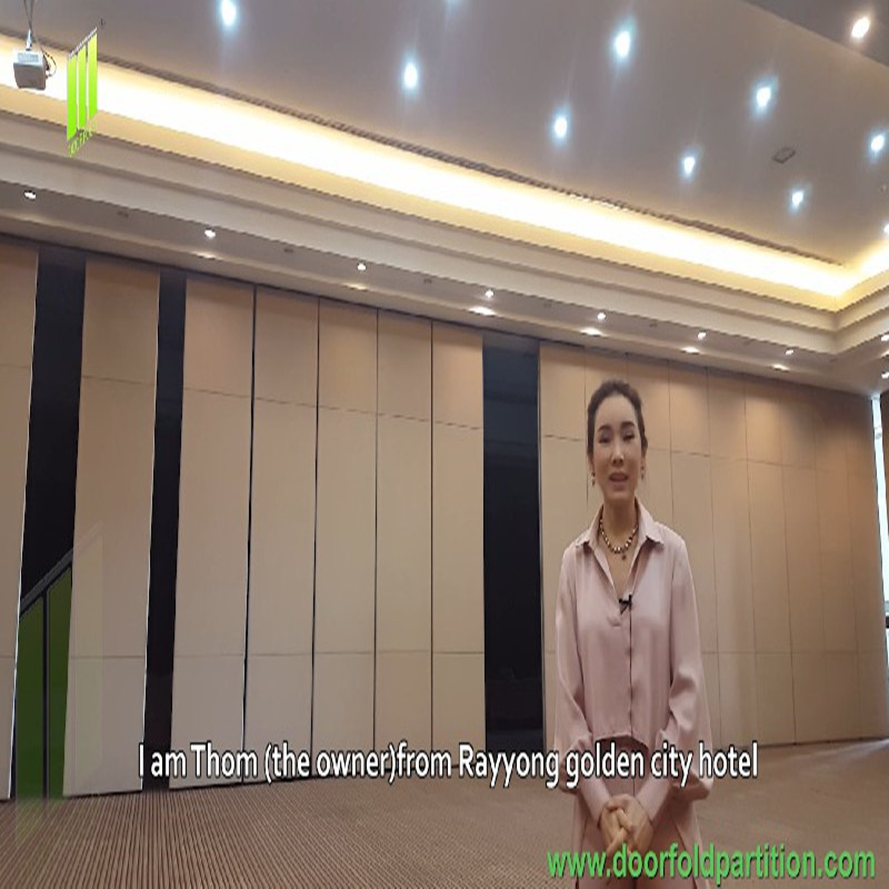 Southeast Asian client feedback to Doorfold partition wall