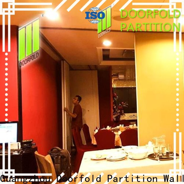 Doorfold flexible commercial room dividers fast delivery for hotel