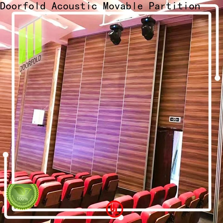 Doorfold acoustic acoustic movable walls operable for theater