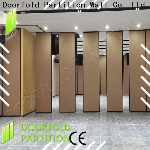Doorfold retractable sliding folding partitions movable walls durable