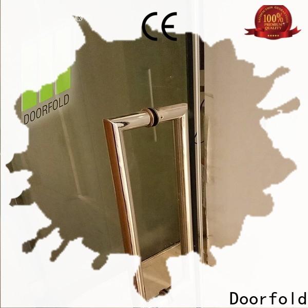 Doorfold glass office partitions custom for restaurant
