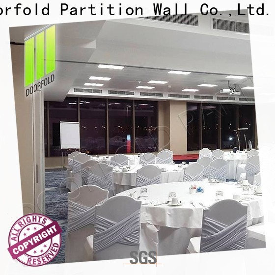 Doorfold sliding folding partitions movable walls durable for hotel