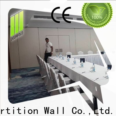 Doorfold sliding partition wall modern design for meeting room