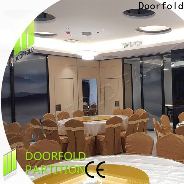 retractable acoustic movable partitions fast delivery restaurant