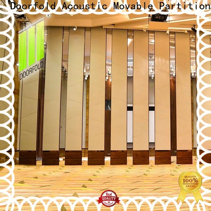 Doorfold Sliding Partition Wall for Hotel simple structure