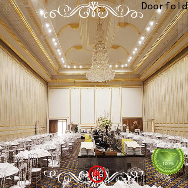Doorfold custom retractable room partitions easy installation best factory price
