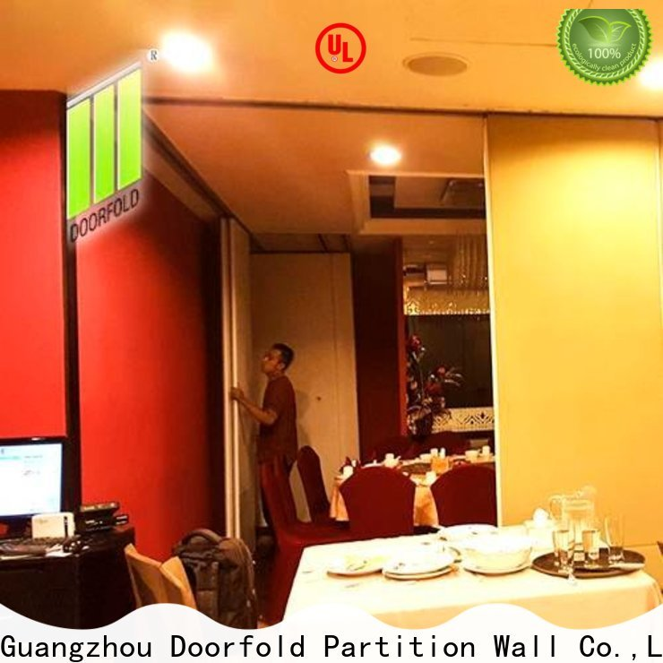 Doorfold Sliding Partition for Commercial Room easy installation for meeting room