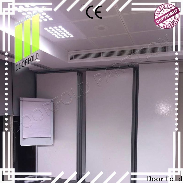 Doorfold acoustic partition wall dividers custom for conference