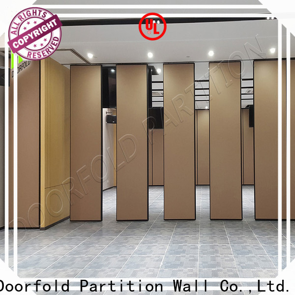 Doorfold retractable sliding folding partition durable for conference room