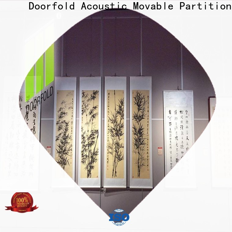 Doorfold movable walls operable for museum