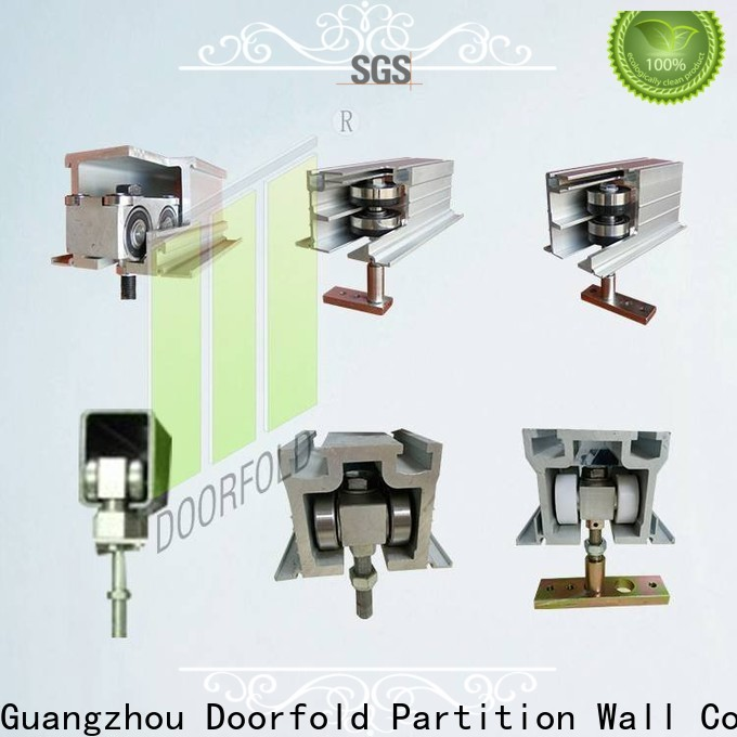 Doorfold restroom partition hardware high-performance for museum