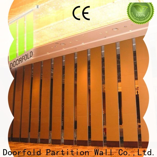 Doorfold simple-structure acoustic movable partitions multi-functional