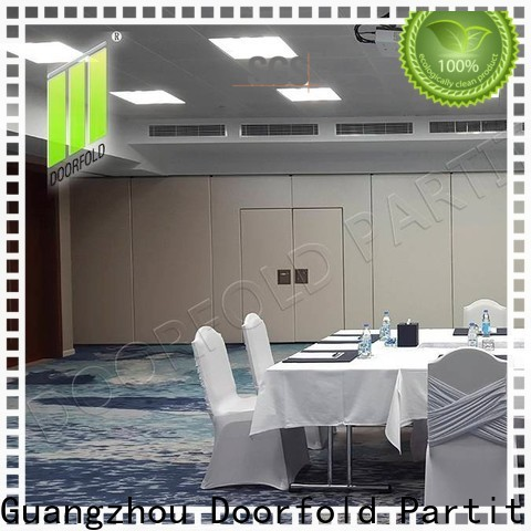 Doorfold sliding folding partitions movable walls latest design for conference room
