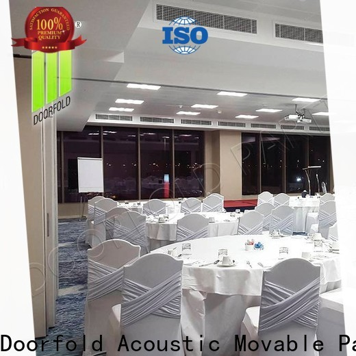 acoustic sliding folding partition durable for conference room