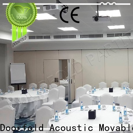 Doorfold collapsible soundproof partition wall for conference room