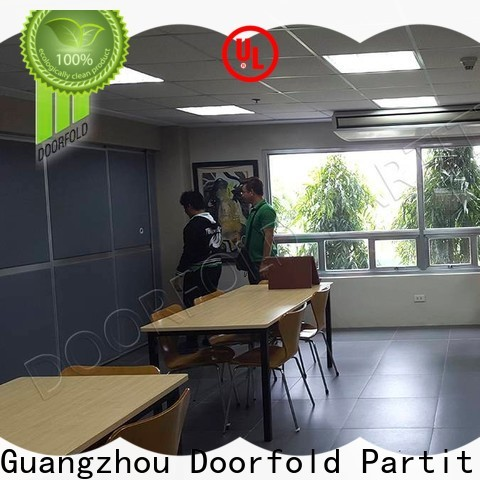 Doorfold soundproof office partitions for theater