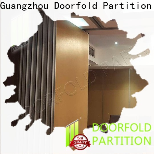Doorfold sliding room partitions simple structure for office