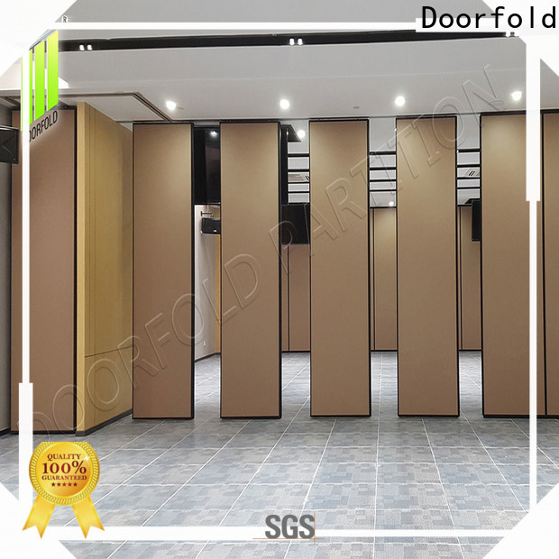 Doorfold acoustic sliding folding partitions movable walls durable