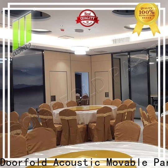 Doorfold simple-structure conference room partition walls easy-installation
