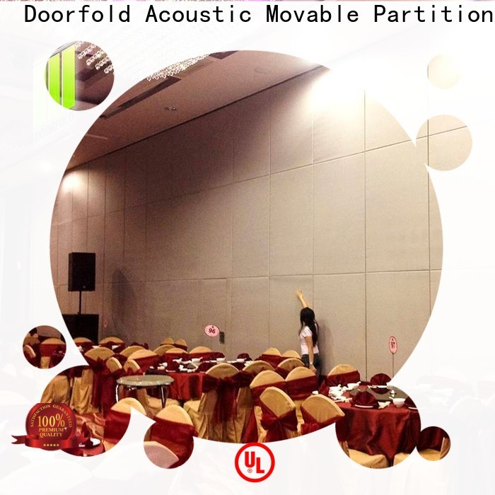 Doorfold sliding folding partition luxury for restaurant