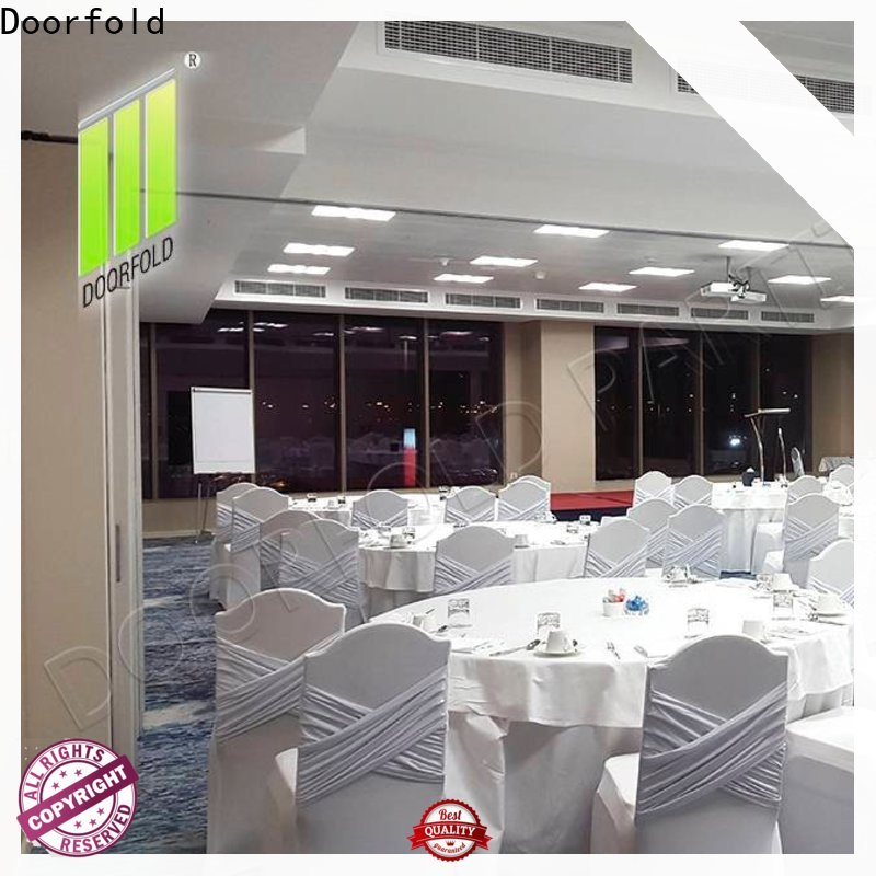 Doorfold retractable sliding room partitions new arrival for meeting room