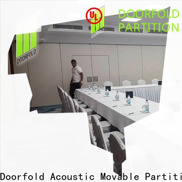 Doorfold sliding partition wall free design for meeting room