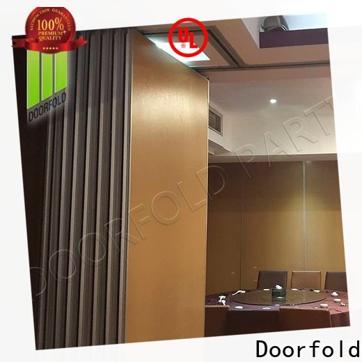 Doorfold commercial sliding folding partition cheapest factory price for meeting room