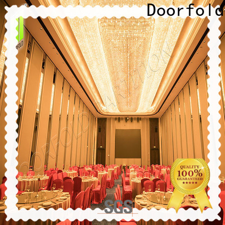 Doorfold sliding folding partition easy installation for meeting room