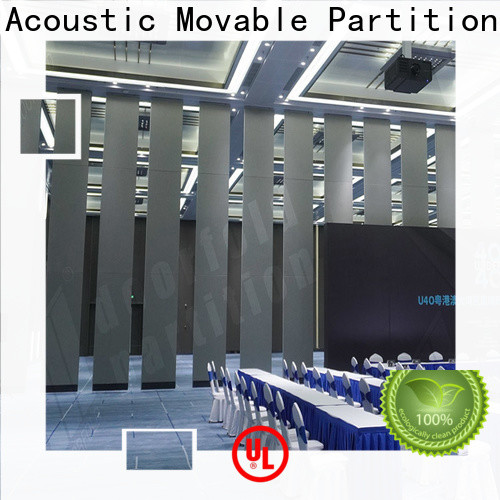 Doorfold conference room folding partition wall easy installation free design