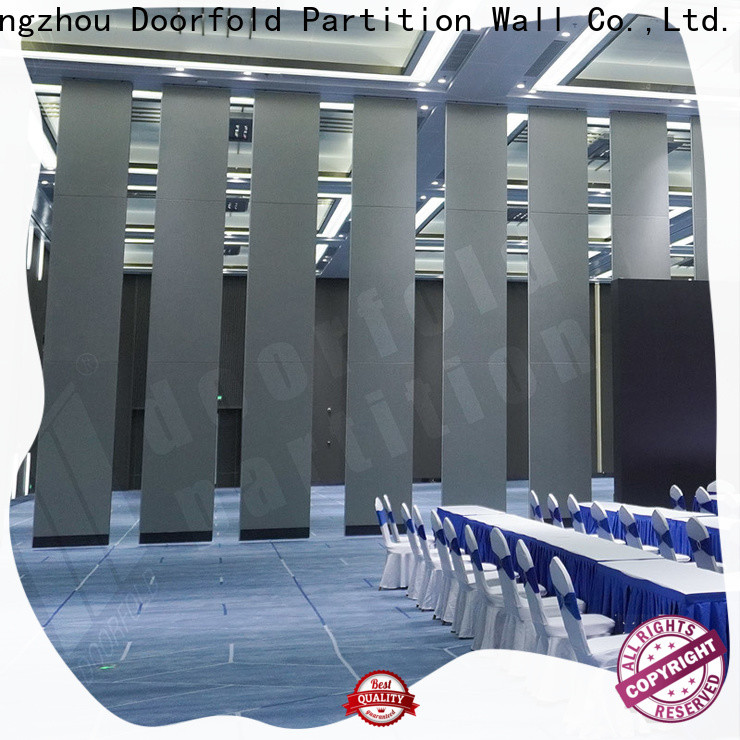Doorfold sliding folding partition customization for meeting room