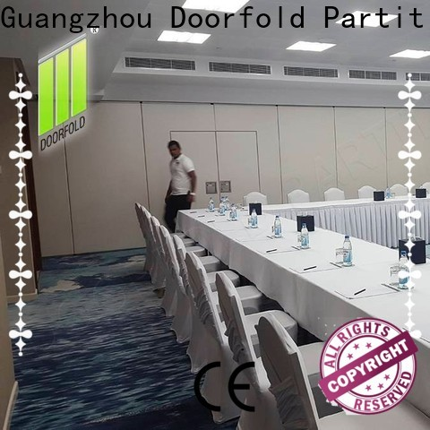 Doorfold foldable glass partition free design for restaurant