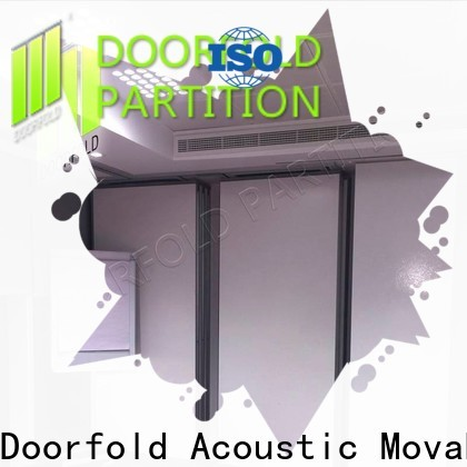 Doorfold foldable glass partition factory for conference centers