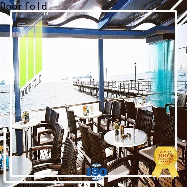 movable frameless glass door top-selling for Commercial Restaurant
