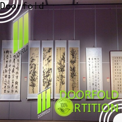 Doorfold acoustic movable walls made in china for museum