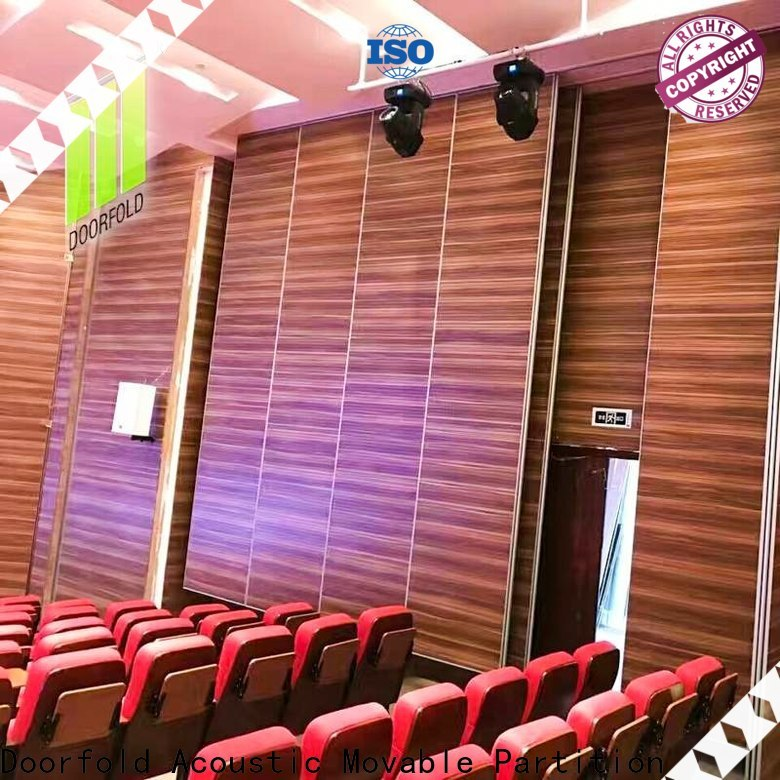 Doorfold sound proof partitions operable for movie