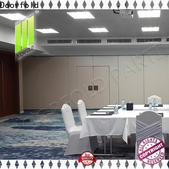 Doorfold retractable sliding folding partition durable for hotel