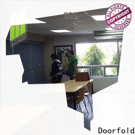 Doorfold collapsible soundproof divider for conference room