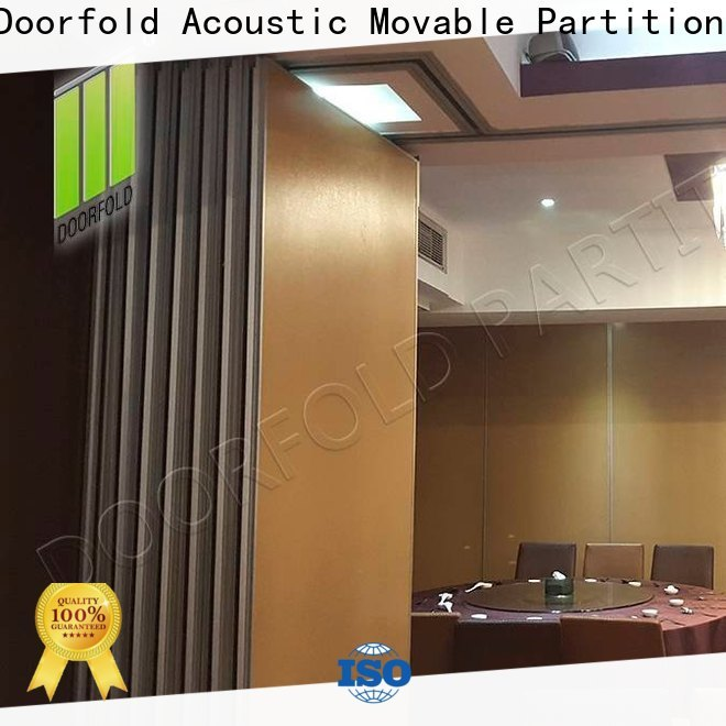 Doorfold Sliding Partition Wall for Hotel easy installation for office